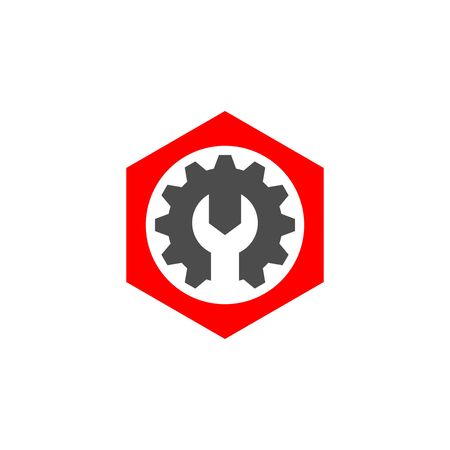 commerce and industry: Gear Vector Template