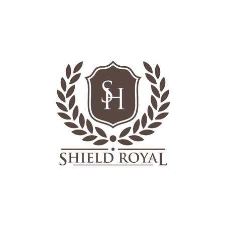 Shield Vector Template Banco de Imagens