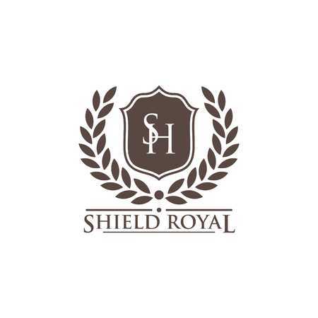 Shield Vector Template Reklamní fotografie