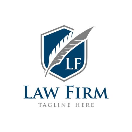 law symbol: Law Firm Vector Template