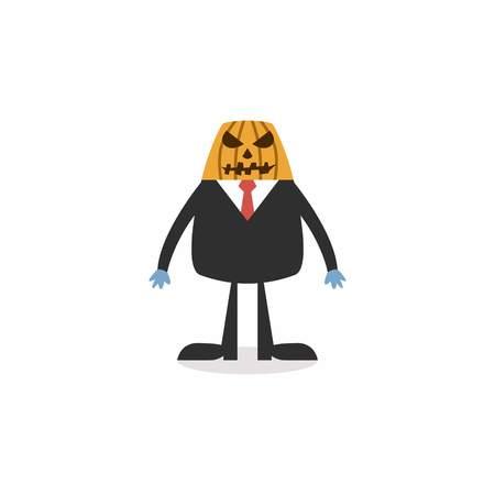 Halloween Cartoon Character Vector Template