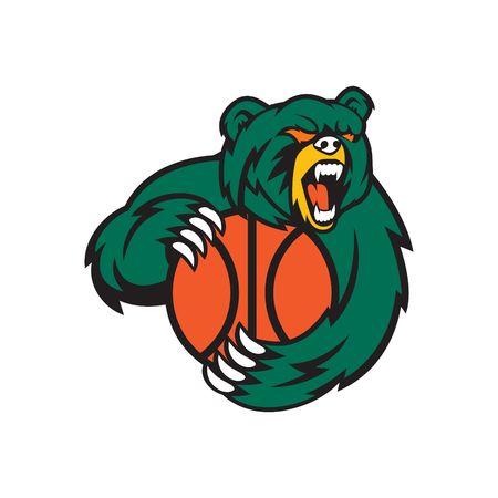 Bear Sport Logo Vector Template