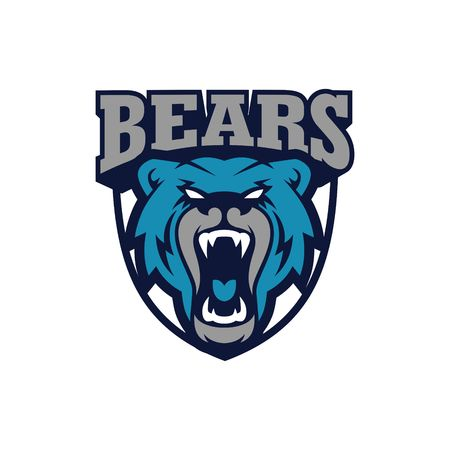 Bear Sport Logo Vector Template