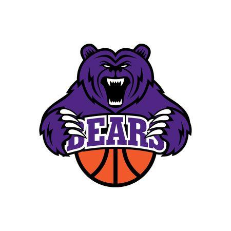 logo vector: Bear Sport Logo Vector Template