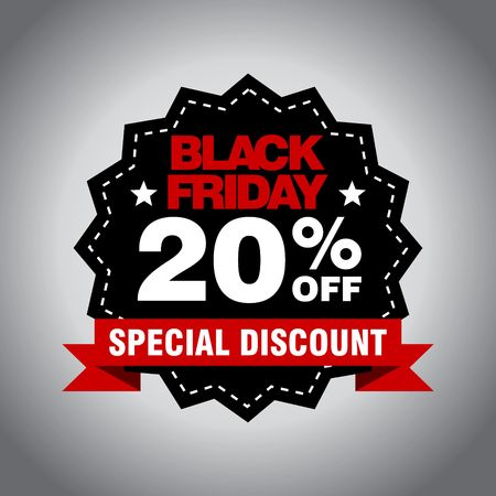 Black Friday Sale, discount and voucher template