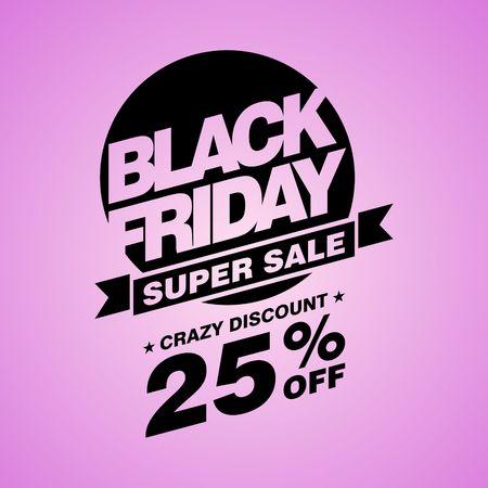 Black Friday verkoop, korting en voucher sjabloon