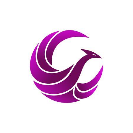 gallo: Línea de Abstarct plantilla Logo