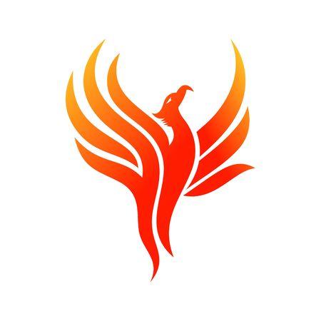 ave fenix: L�nea de Abstarct plantilla Logo