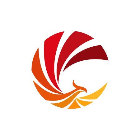 Línea de Abstarct plantilla Logo
