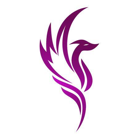 ave fenix: Línea de Abstarct plantilla Logo