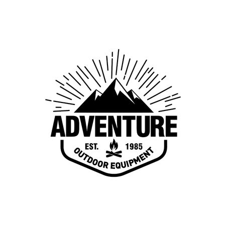 Mountain Hipster Logo template