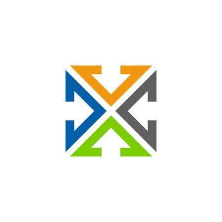 square logo: square logo design template