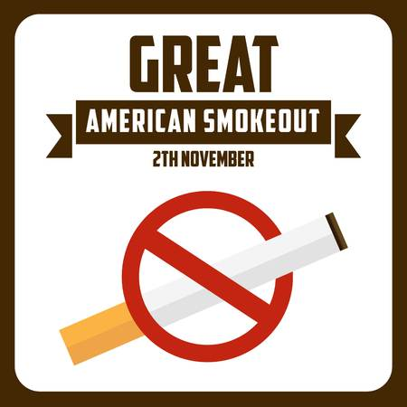 toxic product: great american smoke out Stock Photo