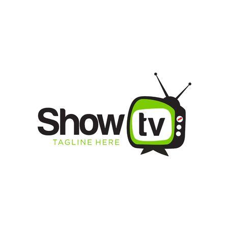 TV y medios plantilla vector logo