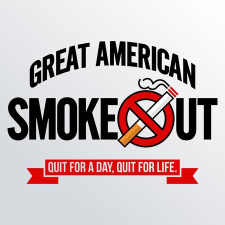 Great American Smokeout vector template