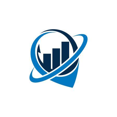地理的な位置のロゴのベクトル テンプレート 写真素材
