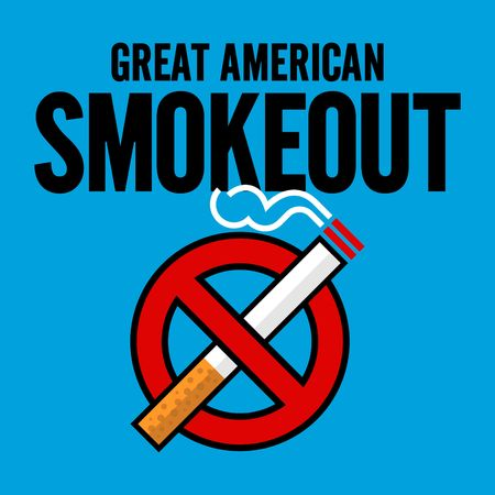 tobacco product: Great American Smokeout vector template