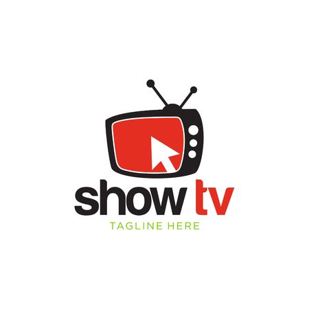 tv and media logo vector template stock photo, picture and royalty