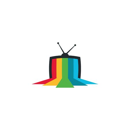 TV en media logo vector template
