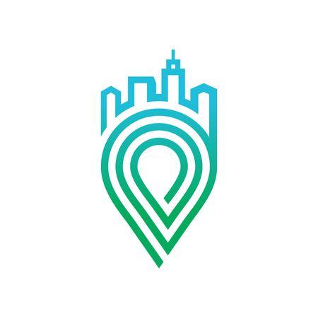 Geo Locatie logo vector template