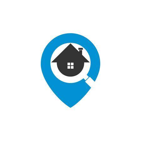 Zoeken logo vector sjabloon Stockfoto