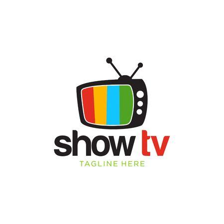 テレビ、メディアのロゴ ベクトル テンプレート