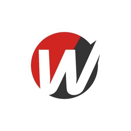 alphabetical: Simple Alphabetical logo template Stock Photo