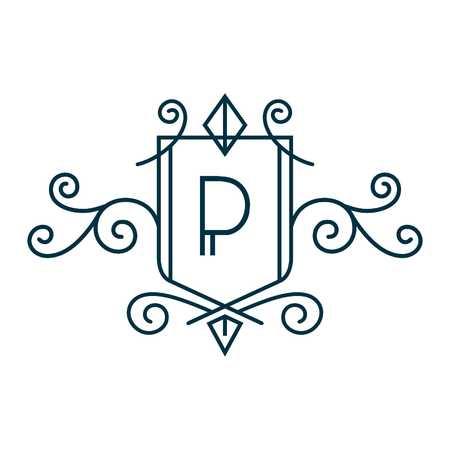 d: Crest Alphabet D Stock Photo