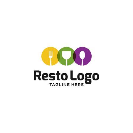 レストのロゴのテンプレート