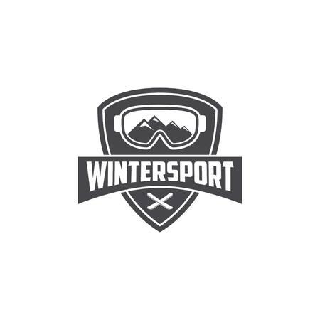 winter sport: Winter Sport Logo Template