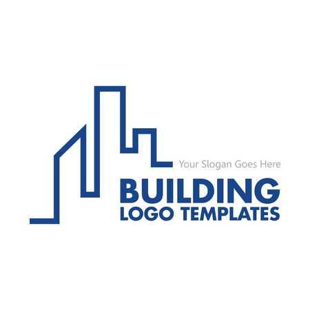 건물의 로고 템플릿 스톡 콘텐츠