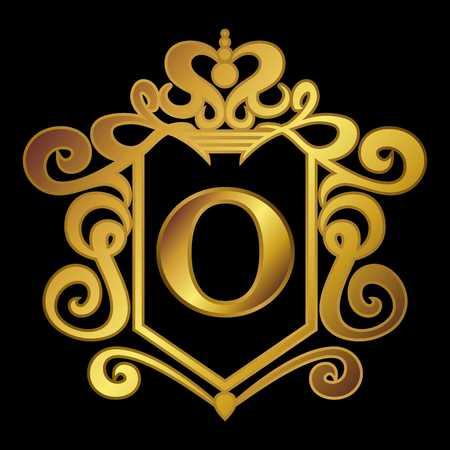 simple logo: Simple Alphabetical logo template Stock Photo