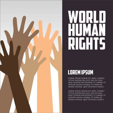 human icon: Human Rights Day, poster, quotes, vector template