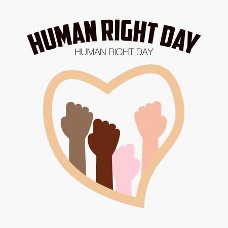 derechos humanos: D�a de los Derechos Humanos, cartel, citas, la plantilla de vectores