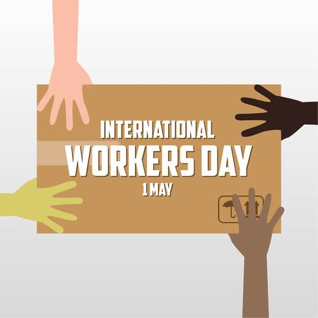 Human Rights Day, poster, citaten, vector sjabloon Stockfoto