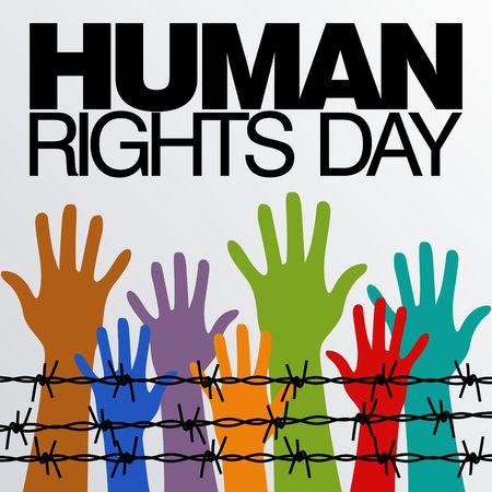 Plantilla de Derechos Humanos Día vectorial Foto de archivo - 48678046