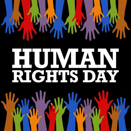 Human Rights Day Vector Template Stockfoto