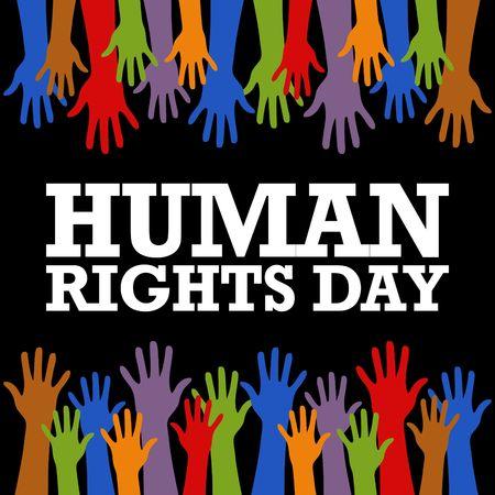 Human Rights Day Vector Template Standard-Bild