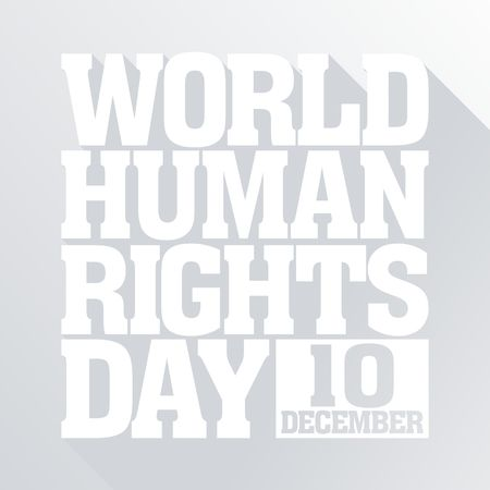 human icons: Human Rights Day Vector Template Stock Photo