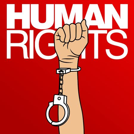Human Rights Day Vector Template Stok Fotoğraf