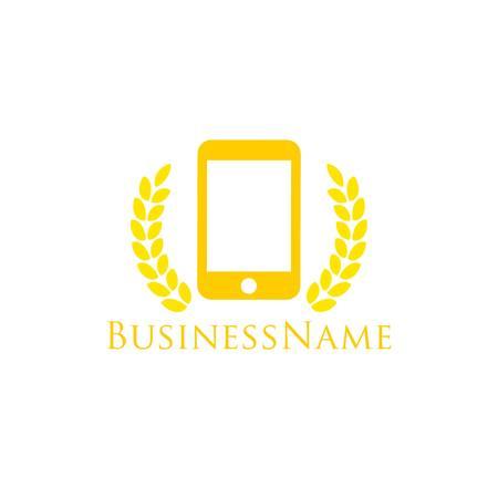phone symbol: Tech  Template Stock Photo