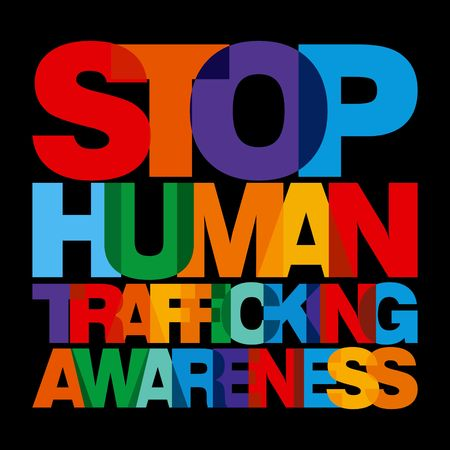 pornography: Human Trafficking Vector Template Stock Photo