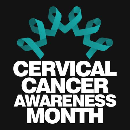 health awareness: Cervical Health Awareness Month Vector Template