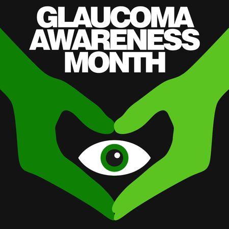 glaucoma: Glaucoma Awareness Vector Template