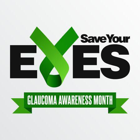 awareness: Glaucoma Awareness Vector Template
