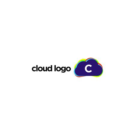 edgy: Cloud Logo Template Stock Photo