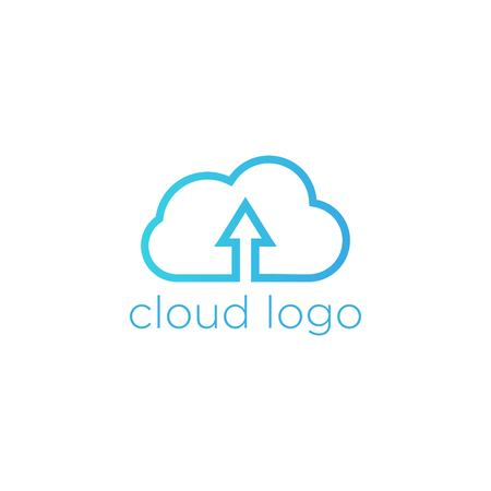 simplus: Cloud Logo Template Stock Photo