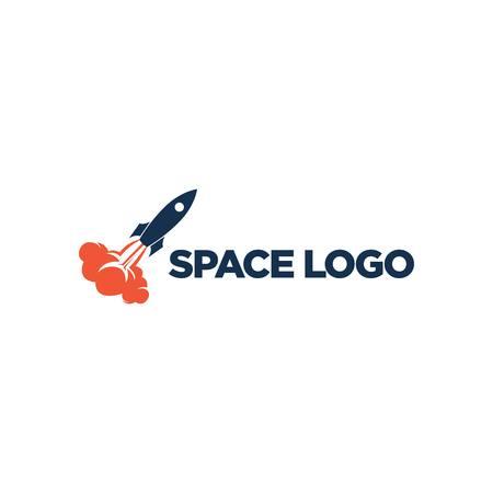 Sjabloon voor ruimte-logo