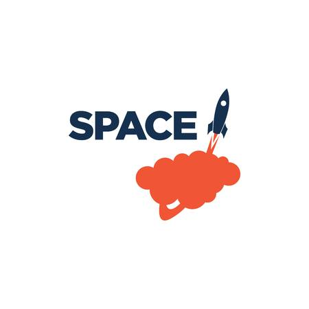 Space Logo Template Stock fotó