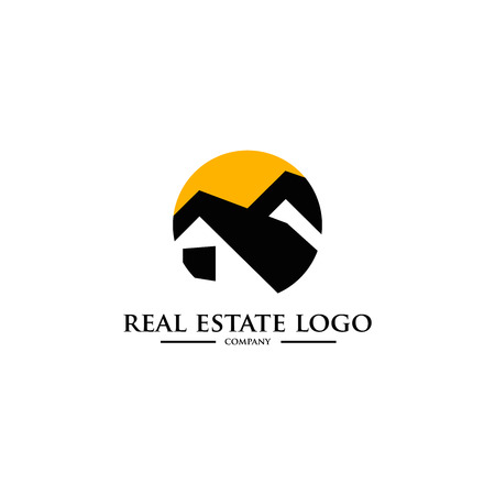 real estate concept: real estate vector  template
